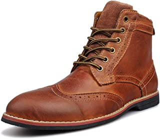 Men's Leather Classic Brogue Boots