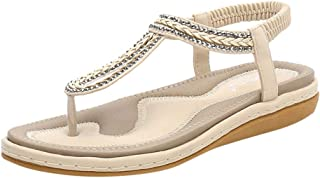 Wedges Sandals Womens Casual Knit Elastic Band Flip Flops Work Shoes