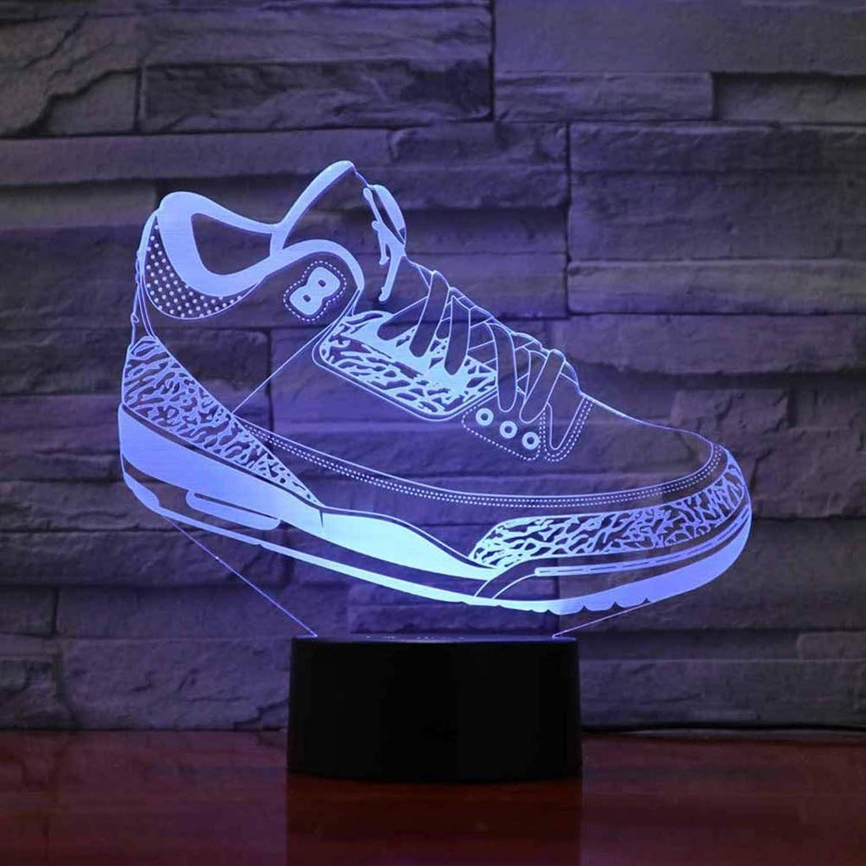 Happy Together Kreative dreidimensionale Form LED Nachtlicht Turnschuhe Schlafzimmer Schlafzimmer Nachtlicht Schuh dekorative Tischlampe