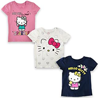 Hello Kitty Girls' Toddler 3 Pc Pack Ss Tees