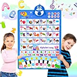 ABC Learning for Toddlers, Electronic Alphabet Poster ABC+123+Music+Piano Keyboard, Interactive Alphabet Wall Chart, Preschool Educational Toys for 2 3 4 5 Year Olds