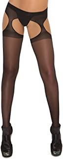 Elegant Moments Women's Sheer Suspender Pantyhose