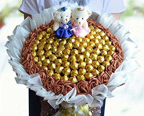 GJX 99 Stick Snoep Boeketten Bruid Bruidsmeisje Holding Bloemen Chocolade Boeket