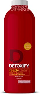 Detoxify – Ready Clean – Tropical Fruit – 16 oz – Herbal Cleanse – Professionally Formulated Herbal Detox Drink – Enhanced...