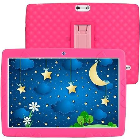 Tablette pour Enfants 10 Pouces Android 10.0 3G LTE Quad Core Tablette éducative, RAM 3GB ROM 32GB avec WiFi Bluetooth GPS et Édition Google Play Préinstallé Tablette avec Étui Anti-Chute