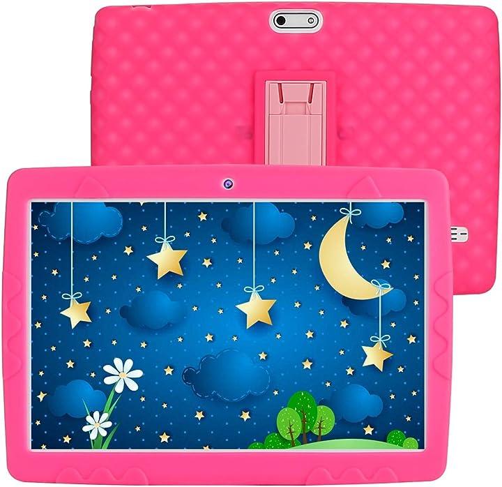 tablet per bambini 10 pollici android 10.0 tablet ram 3gb rom 32gb supporta 3g dual sim/wifi/gps sannuo b08xb17br4