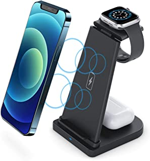 Intoval Wireless Charging Station, True 3 in 1 for Apple...