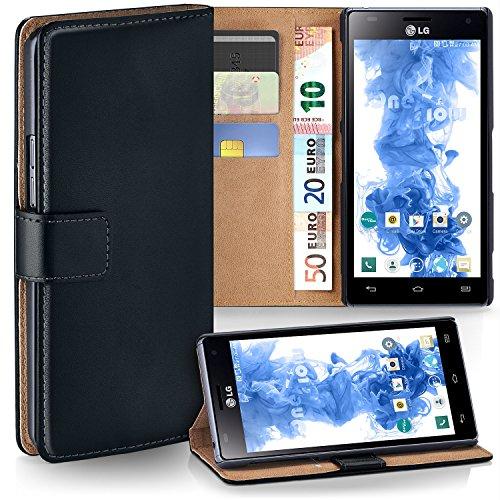 MoEx Premium Book-Case Handytasche kompatibel mit LG P880 Optimus 4X HD | Handyhülle mit Kartenfach und Ständer - 360 Grad Schutz Handy Tasche, Schwarz