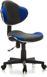 hjh OFFICE 633000 Sedia da ufficio per bambini KIDDY GTI-2 grigio blu, ideale per l'inizio dell'anno scolastico, sedia ergonomica, regolabile in altezza, base stabile, schienale ergonomico, sedia gioventù