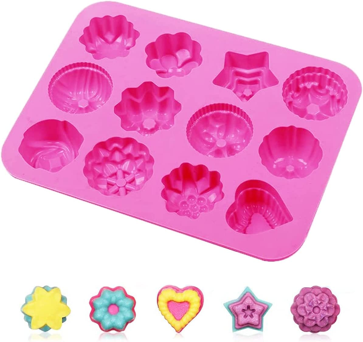 Small 4 Pack Silicone Wax Melt 12 Silicon Long Beach Easy-to-use Mall DIY Form Molds Flowers