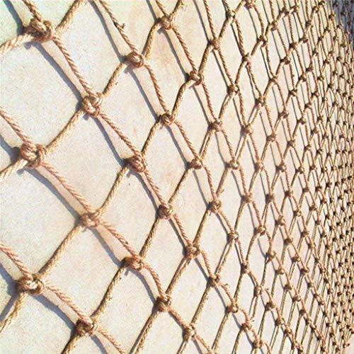 Seguridad Niños Escalada Red De Decoración de Cuerda de Yute - Balcón y Escalera Valla de Decoración Tejido de Yute Aislamiento de Jardín Al Aire Libre Anticaída Multi-Size Malla Protectora Balcon Ext