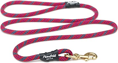 product image for Flowfold 6 ft. Recycled Climbing Rope Dog Leash, Extra Strong and Durable Dog Leash, 6-Feet (Orchid/Fuchsia)