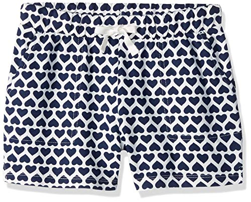Amazon/ J. Crew Brand- LOOK by Crewcuts Girls' Knit Short, Navy Heart Stack, Small (6/7)