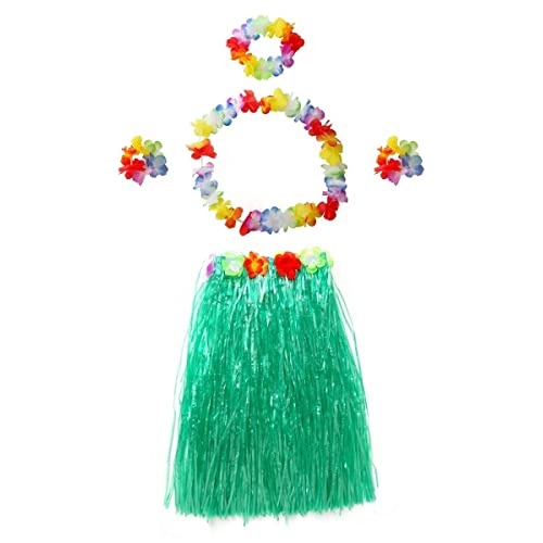 aa1deee0a080 CISMARK Elastic Hawaiian Hula Dancer Grass Skirt