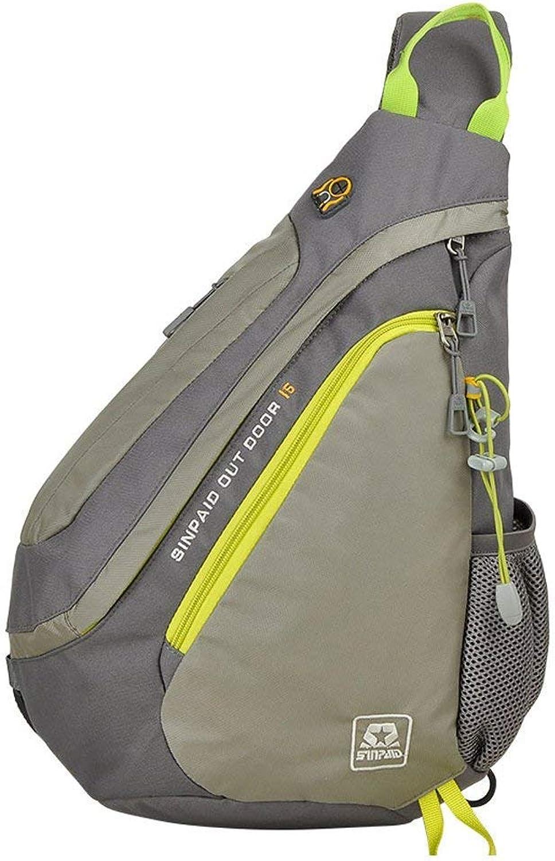 Lounayy Unisex Nylon Bauchtasche Sporttasche Laptop Radfahren Kameratasche Schulrucksack Mode Transporttasche Wasserdicht Tasche (Farbe   Grau, Größe   One Größe)