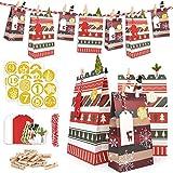 ONEHAUS Adventskalender zum befüllen Kinder, Advents Kalender Zum Selber Befüllen Basteln Pinguin Advents Tüten