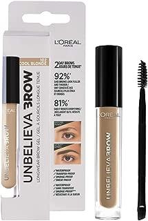 L'Oréal Paris Unbelieva Brow Gel de Cejas, Larga Duración, 102 Cool Blonde - 10 ml