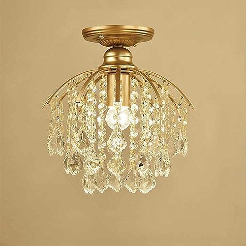 Shfmx Plafonnier en Cristal d'allée Moderne, Lustre Moderne de Lampe de Plafond, plafonnier en Cristal Suspendu pour Couloir vestiaire Balcon