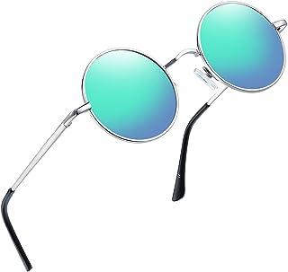 e9e7dc72811 Joopin-Round Retro Polaroid Sunglasses Driving Polarized Glasses Men  Steampunk