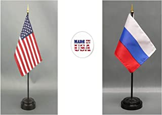 Made in The USA. 1 American and 1 Russian Rayon 4