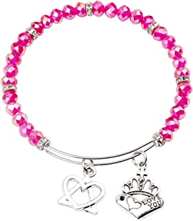 AKTAP Adoption Gifts Love Knot Cuff Bracelet Intertwined Heart and Triangle Adoption Symbol Charm Bracelet for Stepmom Stepdaughter