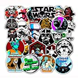 Movie Star Wars Laptop Stickers - 50 Pcs Vinyl Decals Water Bottle Phone Case Notebook Guitar Skateboard Travel Teen Adults Cool Waterproof Unique