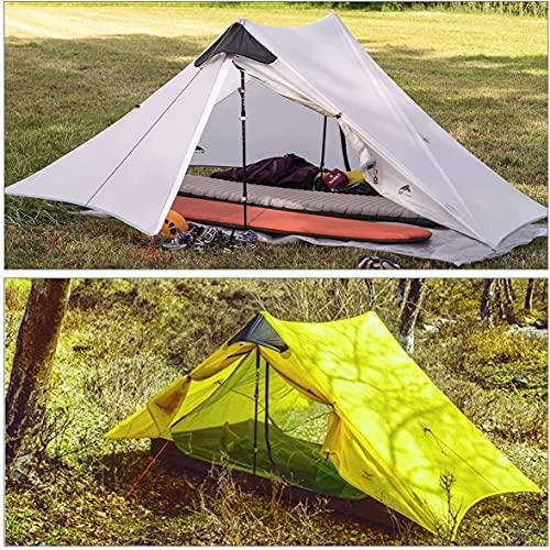 Ultralight Tent 3-Season Backpacking Tent 1 Person/2 Person Camping Tent, Outdoor Lightweight LanShan Camping Tent Shelter, Perfect for Camping, Trekking, Kayaking, Climbing (2 Person, DarkGreen)