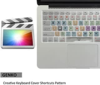Apple Final Cut Pro X Shortcut Keyboard Cover Mac Silicone Portector Skin For Macbook Air 13 & Macbook Pro 13 15 17, Retina (US / European ISO Keyboard) (EU/US Both)