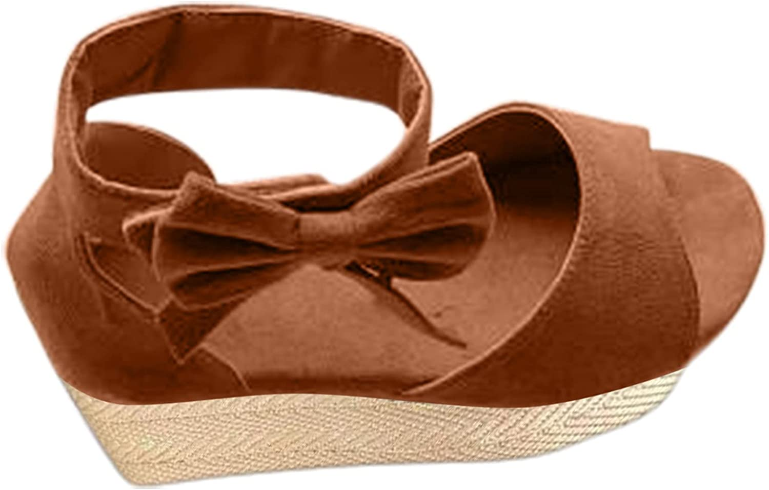 USYFAKGH Comfy Sandals For Women Women's Fashion Bowknot Wedge H