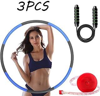 HUOHUOHUO Hula Hoop Profesional,Aro de Hula Plegable para Entrenamiento,Hula Hoop Desmontable con Espuma,Hula Hoop Peso Ponderado para Perder Peso,Aro de Fitness Adultos (Azul)