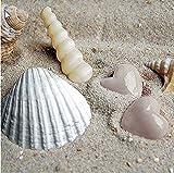 20 tovaglioli a forma di cuore in sabbia come decorazione da tavolo per gli amanti del mare e della spiaggia, 33 x 33 cm