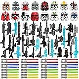 EWWEEQQ Juego de Armas Militares Personalizadas para Soldados Mini Figuras SWAT Police 83 Piezas Juego de Armas Estilo Ciencia ficción Bloques de construcción para Lego Star Wars Mini Figuras
