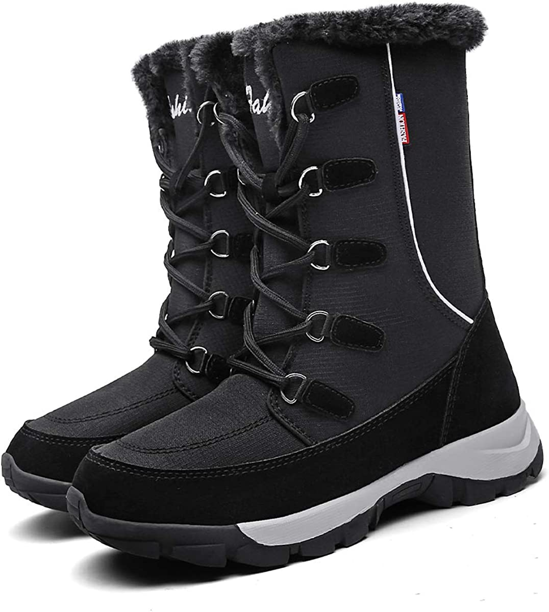 Women's Snow Boots Winter Waterproof Ankle Boots Warm Fur for Outdoor Booties Fashion Slip On Shoes