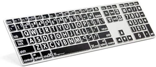 Logickeyboard LargePrint White on Black - Mac Advanced Line Keyboard - LKBU-LPRNTWB-AM89-US