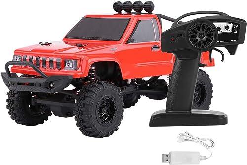 Dilwe RC Modellauto, RGT 1 24 Skala 4WD Fernbedienung Off-Road-Auto 2,4 GHz Radio System RC Crawler Fahrzeug Autos( Rot)