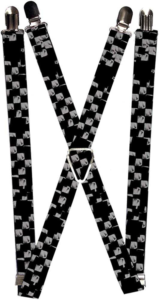 Buckle-Down Men's Suspender-Checkered, Multicolor, One Size