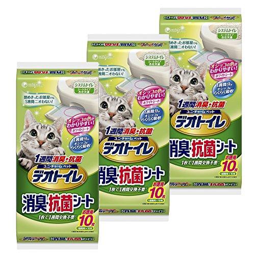 デオトイレ 1週間消臭・抗菌シート 10枚入り×3個