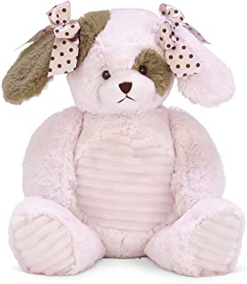 Bearington Baby Wiggles Hugs a Lot Stuffed Animal Pink Puppy Dog, 14