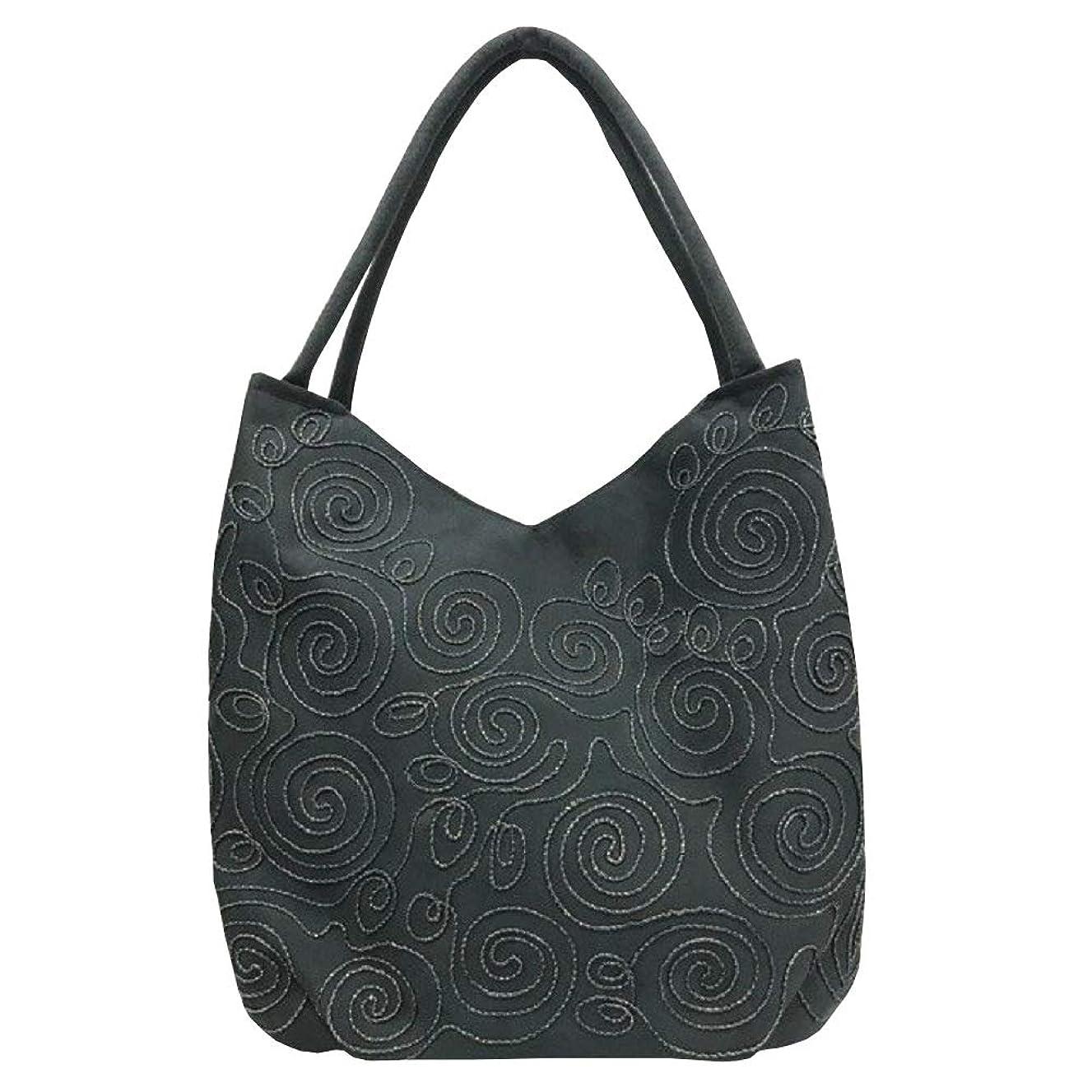悪意栄光のスワップベトナムバッグ 刺繍 トートバッグ 肩掛け 鞄 両面刺繍 ベトナム雑貨