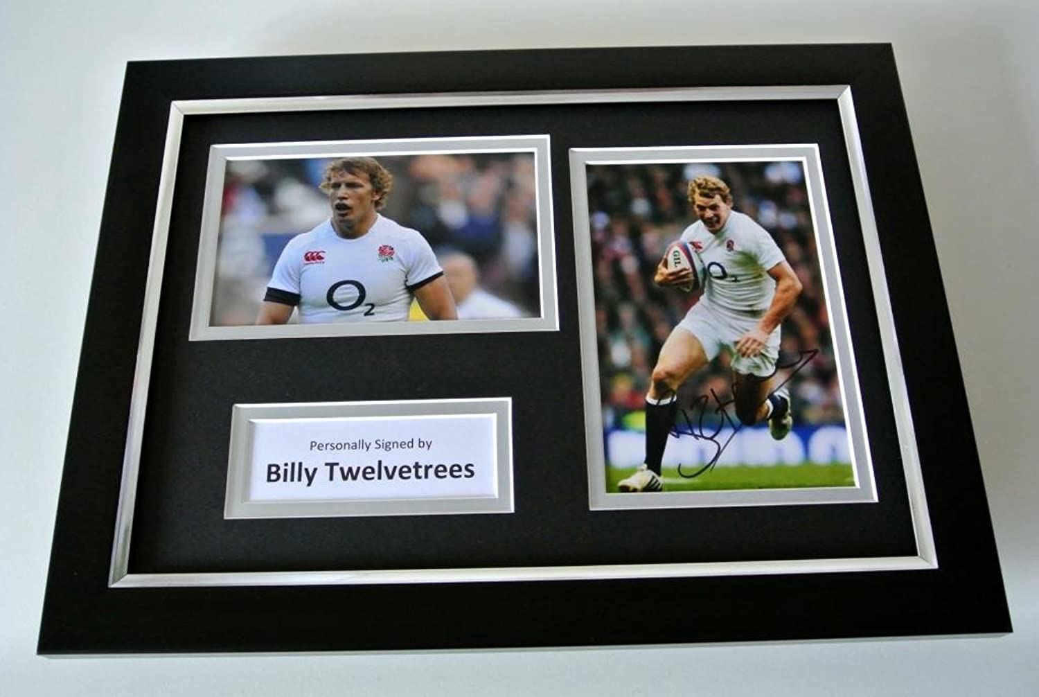 Sportagraphs Billy Twelvetrees SIGNED A4 FRAMED Photo Autograph Display England Rugby & COA PERFECT GIFT
