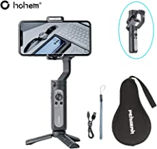 Hohem iSteady X Smartphone Gimbal Stabilizer 259g Ultra-Light Weighted 280g Payload Selfie Stick Mode Low-Angle Shooting Mode Moment Mode, Black