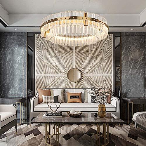 no-branded Sygjal Sala de Estar Cristal Led Moderno Minimalista Lámpara Redonda Lobby Luz Dormitorio Lámpara Diámetro 40cm 60cm 80cm (Size : 60cm)