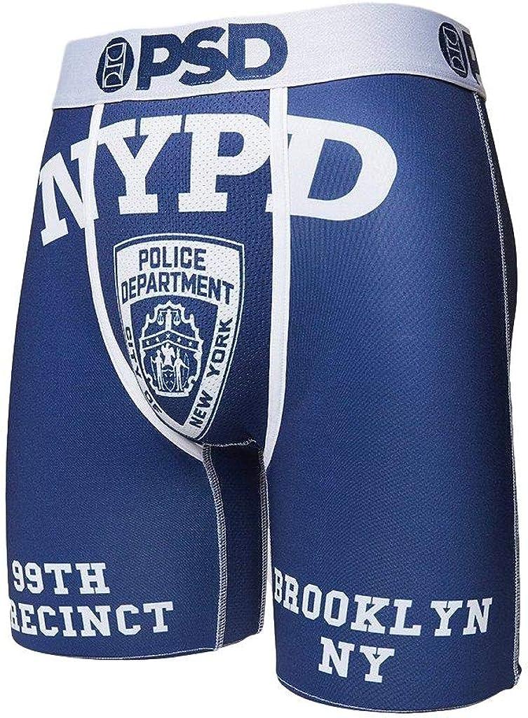 PSD Men's Brief Underwear Bottom (Blue/White, XXL)