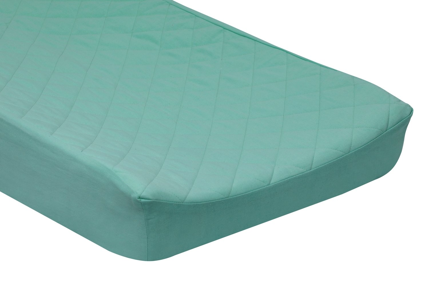 Branded goods Solid Cotton Quilted Changing Pad Fits Contoure Miami Mall Cover Standard -