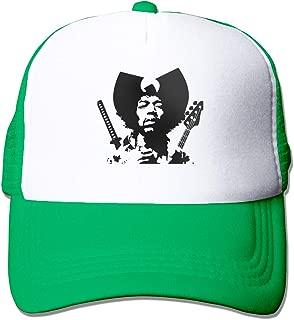 Kooiico Jimi Hendrix Outdoor Mesh Hat Golfer Sanpback Cap Hat Adjustable Black