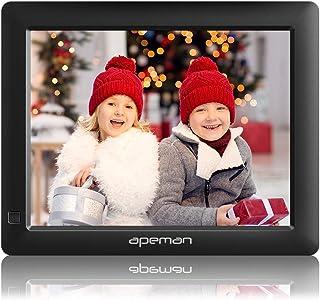 【進化版】APEMAN デジタルフォトフレーム 8インチ 1280*800解像度 IPS視野角 液晶高画質 MMC/SD/USB/mini USB対応 写真/動画/音楽再生 時計/カレンダー/アラーム機能付き 黒