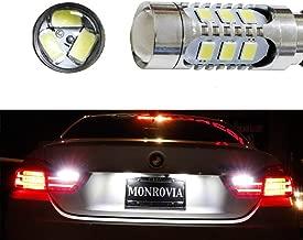 iJDMTOY (2) Super Bright 15-SMD Xenon White CAN-bus LED Backup Reverse Light Bulbs For 2014-2017 BMW 4 Series 420i 428i 435i M4 (F32 F33 F36 F82)