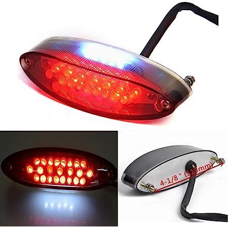 12V ATV Motor LED Bike Rear Brake Stop Flash Back Light Signal Universal brown