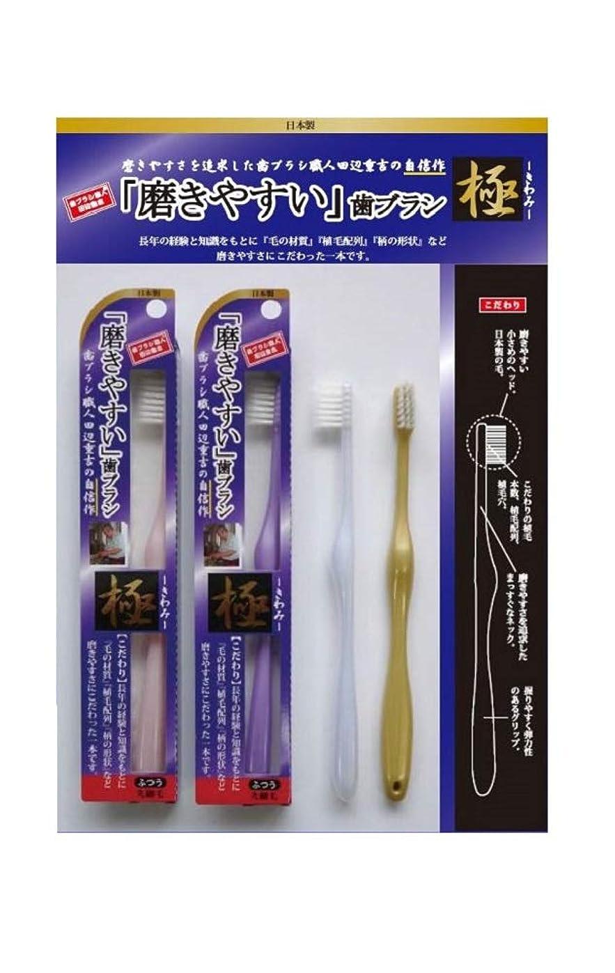 約ヘルメット聖歌歯ブラシ職人 田辺重吉 磨きやすい歯ブラシ 極 先細毛タイプ LT-22(1本×4個セット)