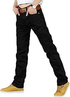 Newfacelook Uomini duri vestito di nero Per i lavori pesanti meccanismo di funzionamento pantaloni contadini con maniche lunghe.